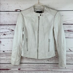 FOREVER 21 | Faux Leather Zip Motorcycle Jacket